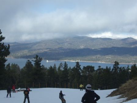 Big Bear Lake vu des pistes