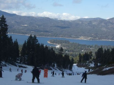 Big Bear Lake vu des pistes 2