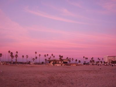 Huntington Beach coucher soleil